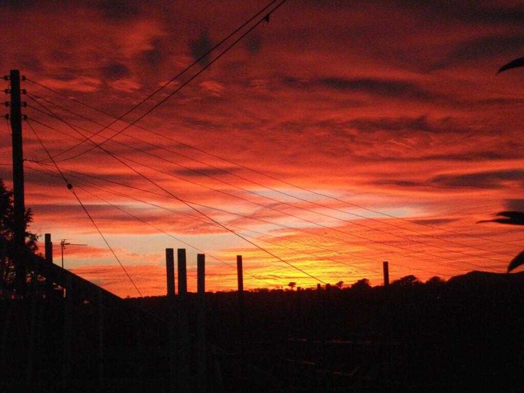 Sunset from Hillside Cottage